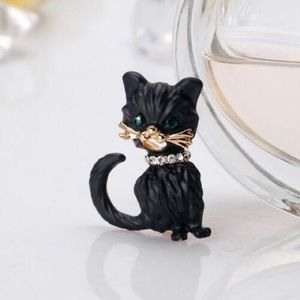 ‼️3 for 20$‼️Black Cat Brooch Pin Alloy
